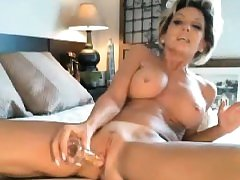 Naughty milf sucking and inserting anal a toy