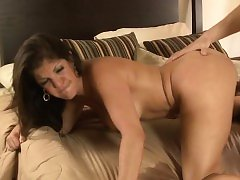 Bigtitted motherinlaw doggystyled after bj