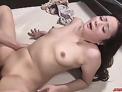 Mizuki Ogawa gives head before experiencing sex on cam