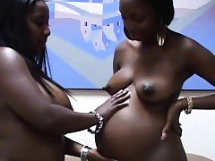 Ebony lesbos licking juicy pussies