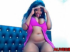 Black SWEETMELONSSXX with huge boobs ALIVEGIRL