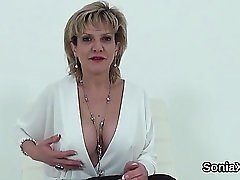 Unfaithful english mature lady sonia shows off her heavy bal