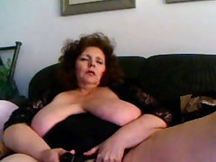 Redhead busty mature toying cunt