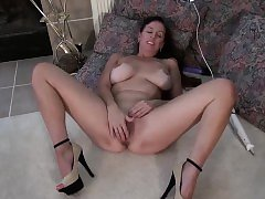 USAWives Lusty Mature with two vibrators in her tight pussy