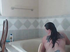 Busty Mature Fucks Dildo In Hot Tub And Showers