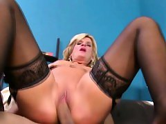 Horny blonde cougar wants a cock