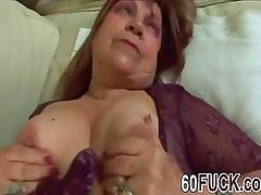 Chubby mature fucked hard while being clothed