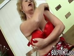 Cock hungry blonde granny goes down and dirty showing all her sex skills