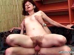 Brown haired brunette MILF is ready to ride a big dick right now