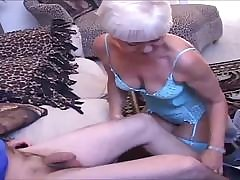 Hot Swinging Granny Shared with Two Young Men