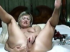 Blonde MILF Fuck With Dildo - CamForPorn,com - Best